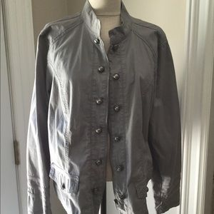 Gray cotton jacket